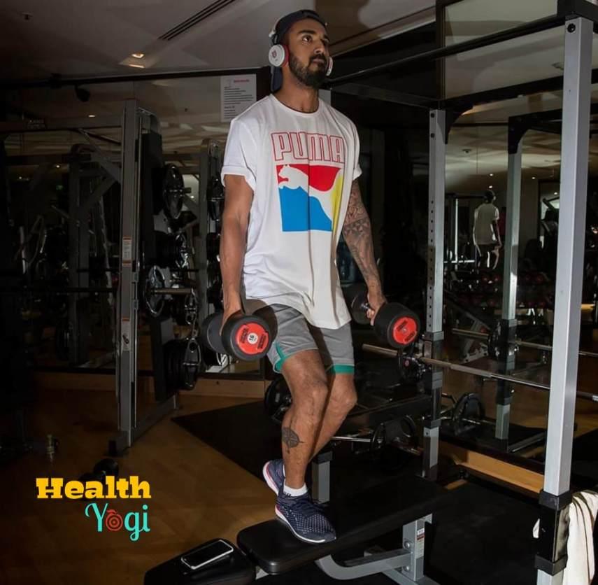 KL Rahul at Gym