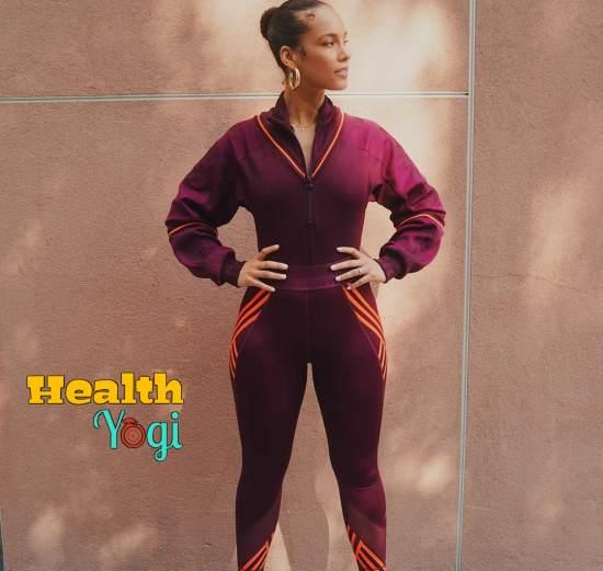 Alicia Keys exercise