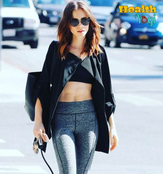 Lily Collins Workout Routine and Diet Plan