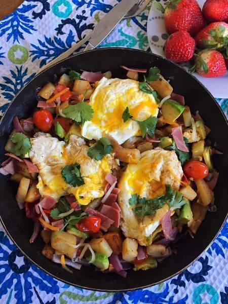 Hash potato breakfast