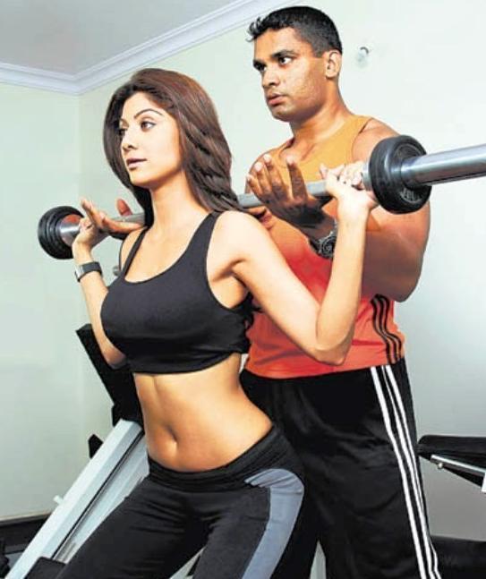Shilpa Shetty working out