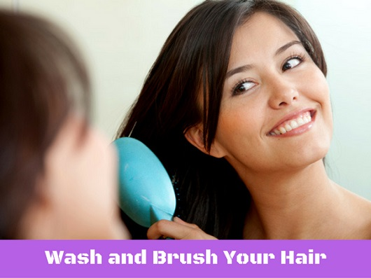 Wash and Brush Your Hair