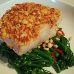 N'duja Crusted Cod With Broccoli, Chilli And Pinenuts