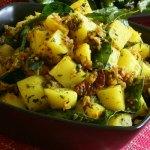 Potato Stir-Fry with Mint & Cilantro