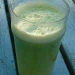 Celery,Apple,Broccoli and Lemon Juice