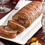 Chestnut & cranberry roll