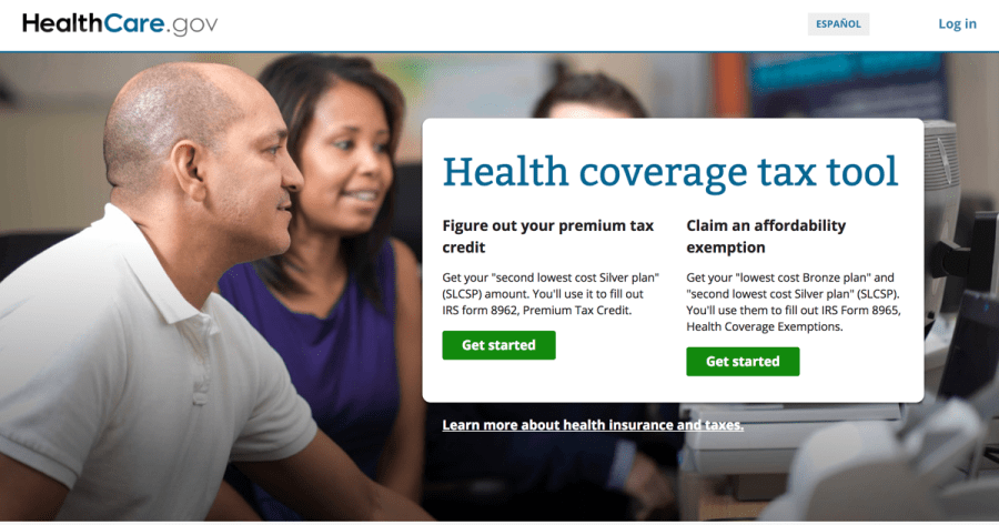 Health coverage tax tool   HealthCare gov