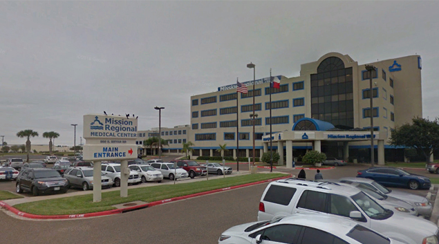 Mission Regional Medical Center in Mission, Texas (Google Earth)