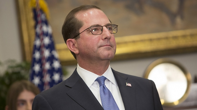 HHS Secretary Alex Azar Credit: Chris Kleponis-Pool, Getty Images