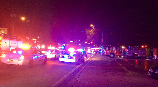 Police respond to the mass shooting at the Pulse night club in Orlando, Florida (Orlando Police Department photo)