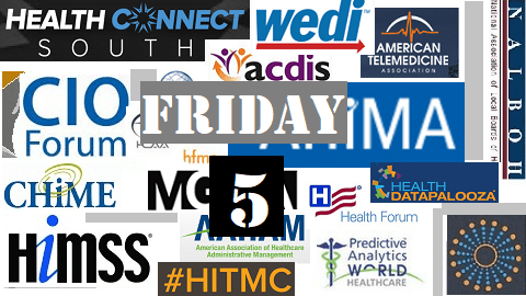 The Friday Five – Spring Healthcare Conferences
