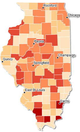 Illinois Public Health Community Map