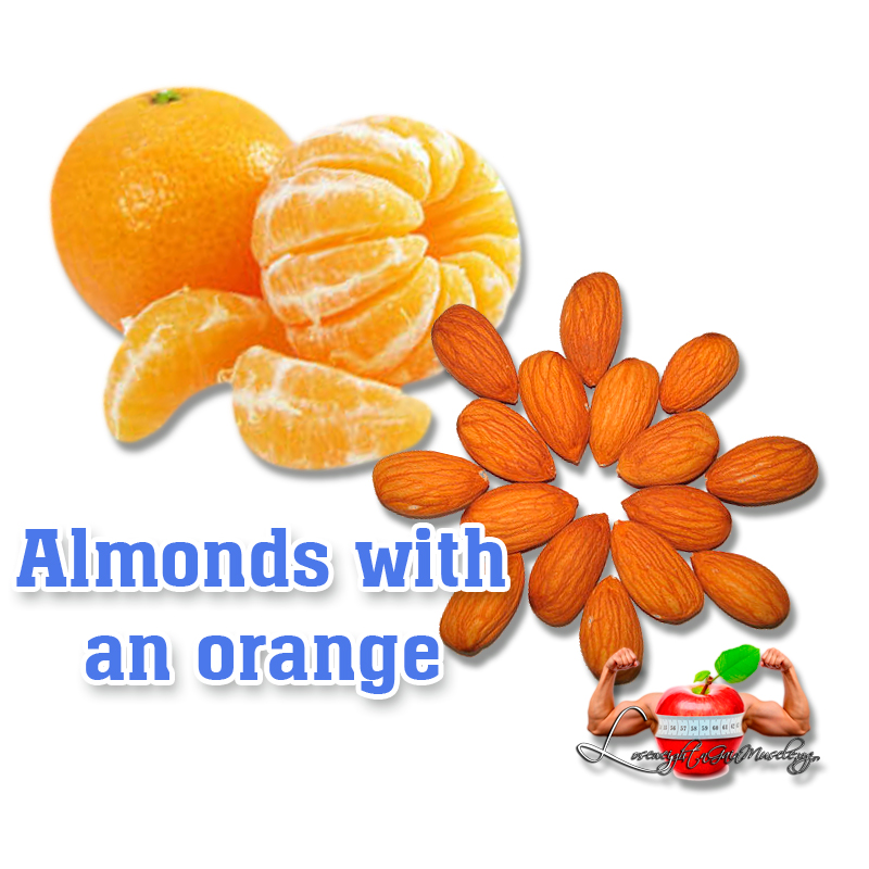 Almonds with an orange