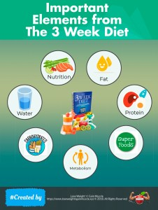 Important Elements from the3 Week Diet