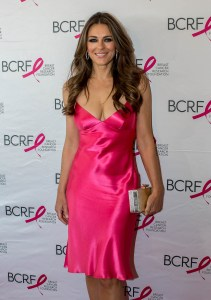 Breast Cancer Research Foundation (BCRF) Party honoring Elizabeth Hurley - Hot Pink Carpet and Cocktails Hour Featuring: Elizabeth Hurley Where: Boston, Massachusetts, United States When: 14 May 2015 Credit: Camille Maren/WENN.com
