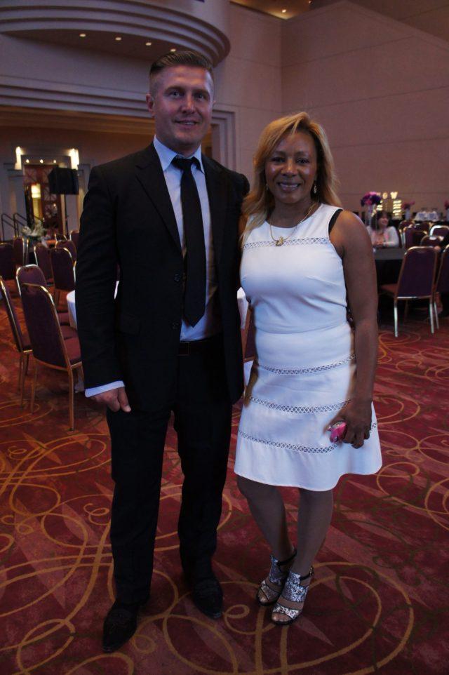 Samir Becic and Women of NOW founder Donna McGowan