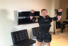 Samir Becic Wears 150lb Weighted Vest obesity campaign