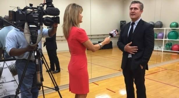 Melissa Wilson interviewing Samir Becic for My Fox Houston in 2015.