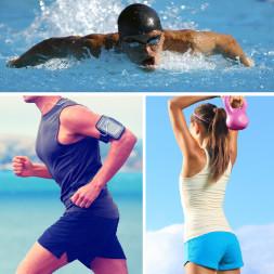 Running, Swimming, Strength Training