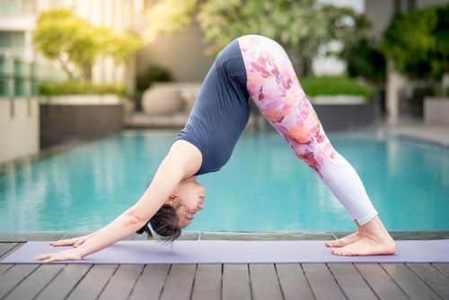 Adho Mukha Svanasana helps with weight loss