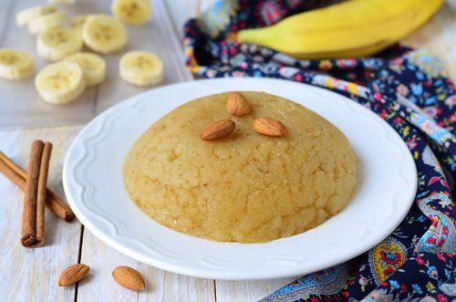 Banana Halwa or Banana Sheera
