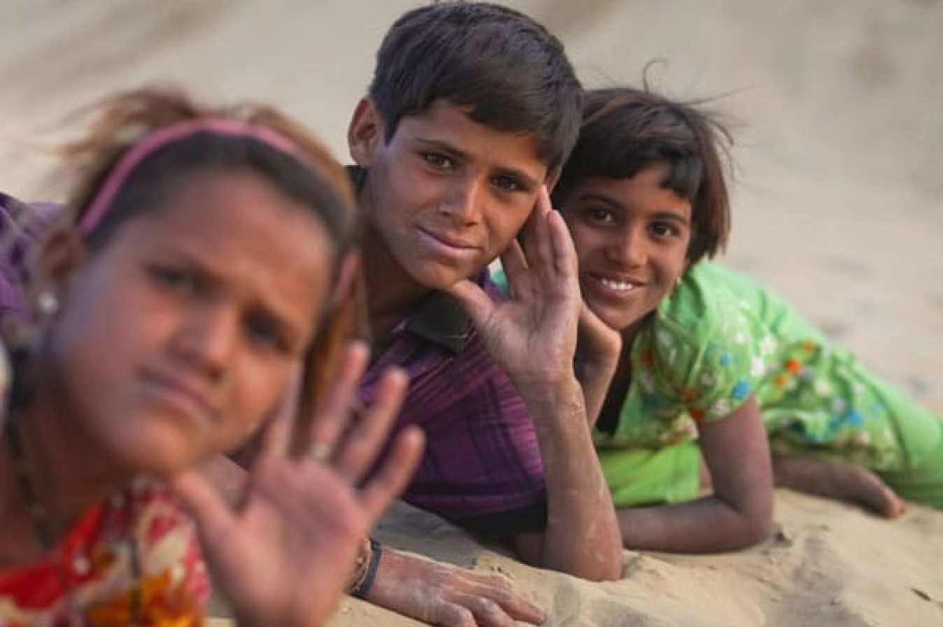 Indian children concept.