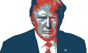 Donald Trump colored artistic Copyright: leirbagarc / 123RF Stock Photo