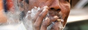 Smoking rates in India falling, especially amongst the youth