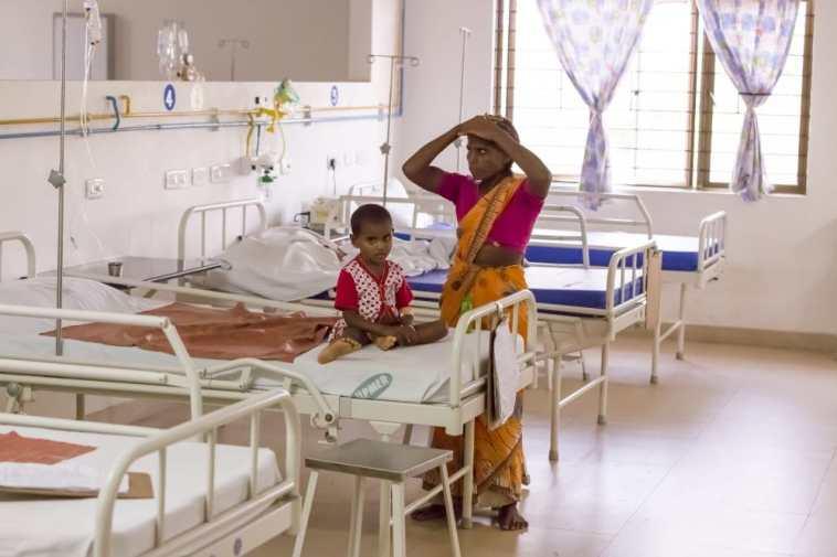 Hospital, India's public health system.