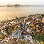 Rubbish pollution with food waste, plastic and other packaging stuffs on the bank of the Taungthaman lake near U Bein bridge in Myanmar (Burma). Image credit: Bidouze Stephane / 123rf