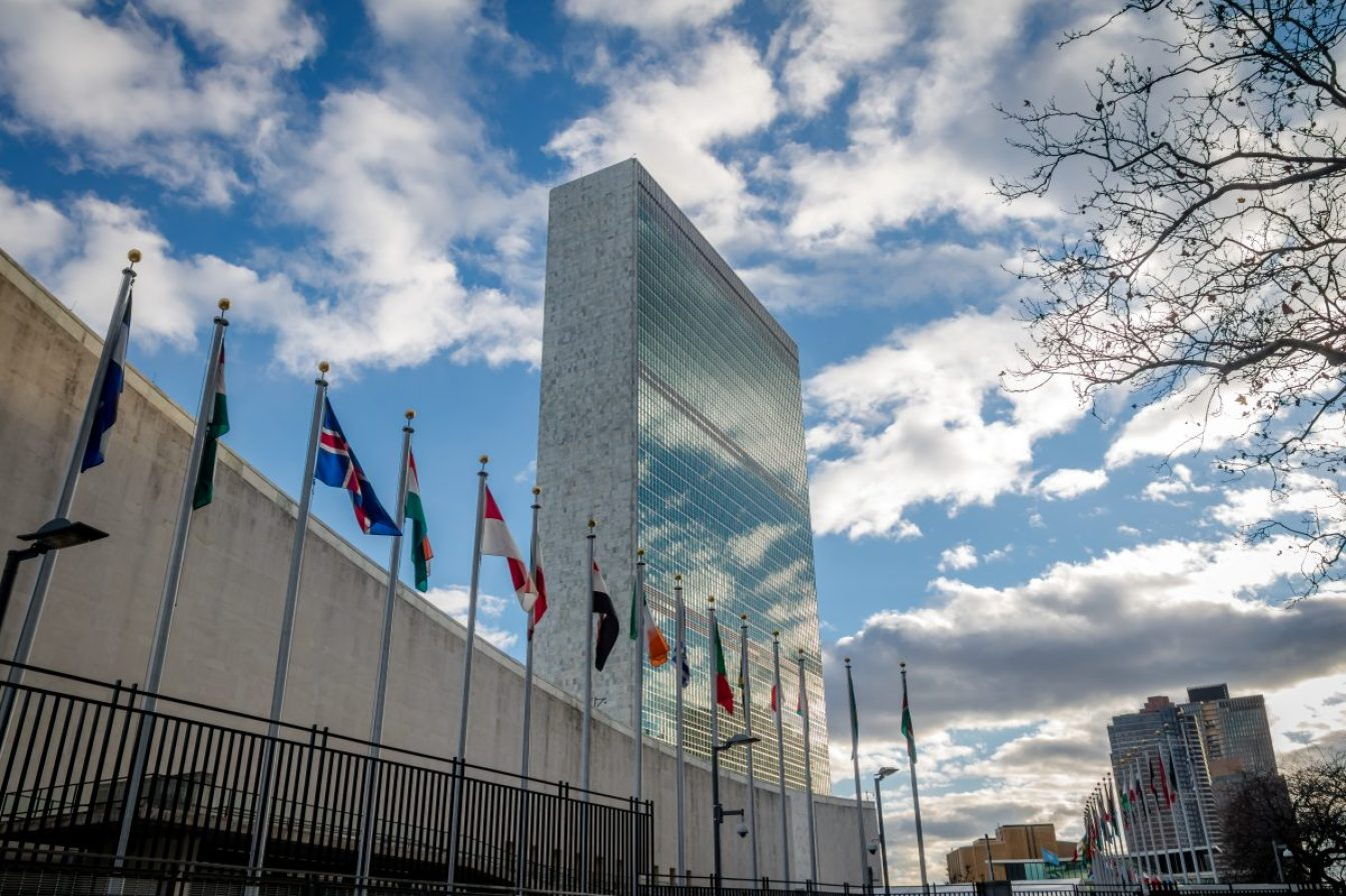 The United Nations headquarters in New York. Image credit: Diego Grandi / 123rf. Used to illustrate UN outcry over vaccine nationalism.
