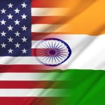US-India trade deal concept. Relations between countries. USA and India.