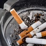 Close up shot of cigarette butts in glass ashtray Image credit: lightfieldstudios / 123rf tobacco users concept.