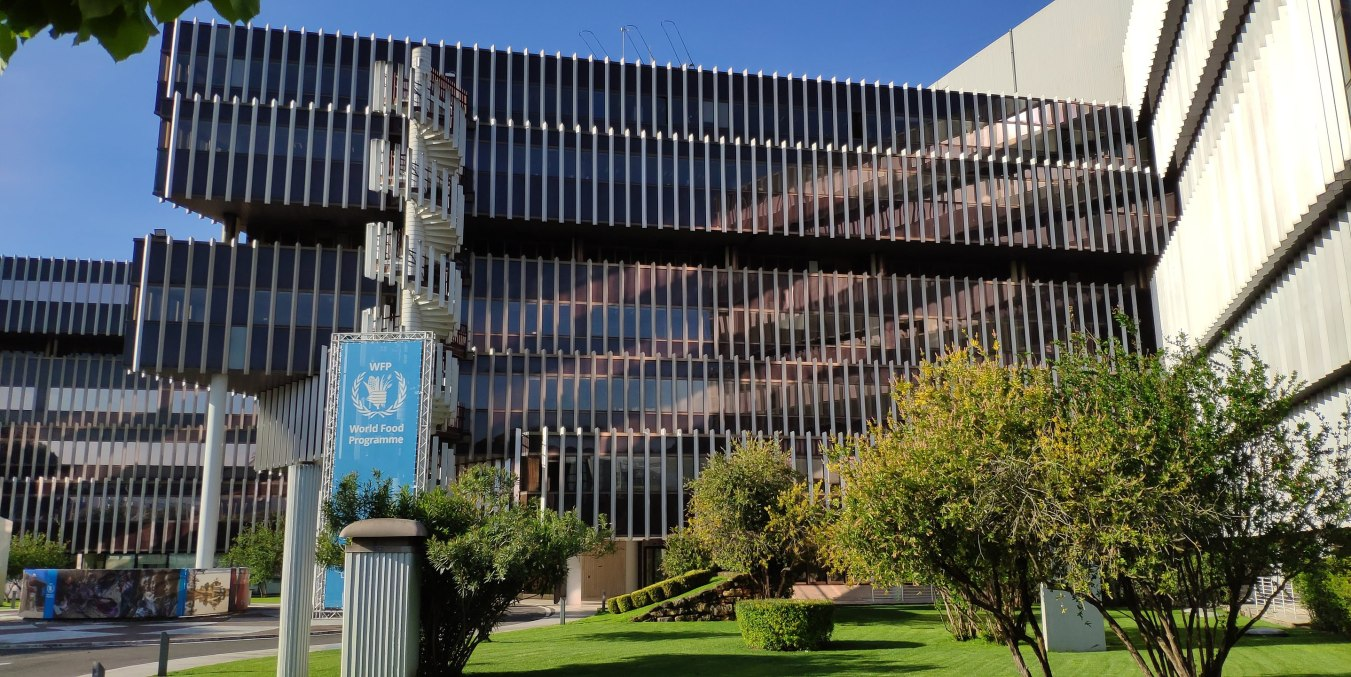 Headquarters of the World Food Programme in Rome, Italy. Image credit: Kaga tau / CC BY-SA (https://creativecommons.org/licenses/by-sa/4.0)