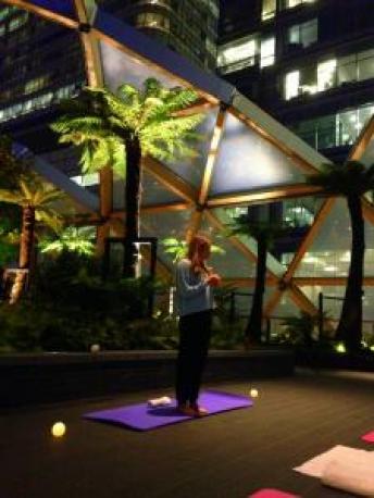 roof top yoga