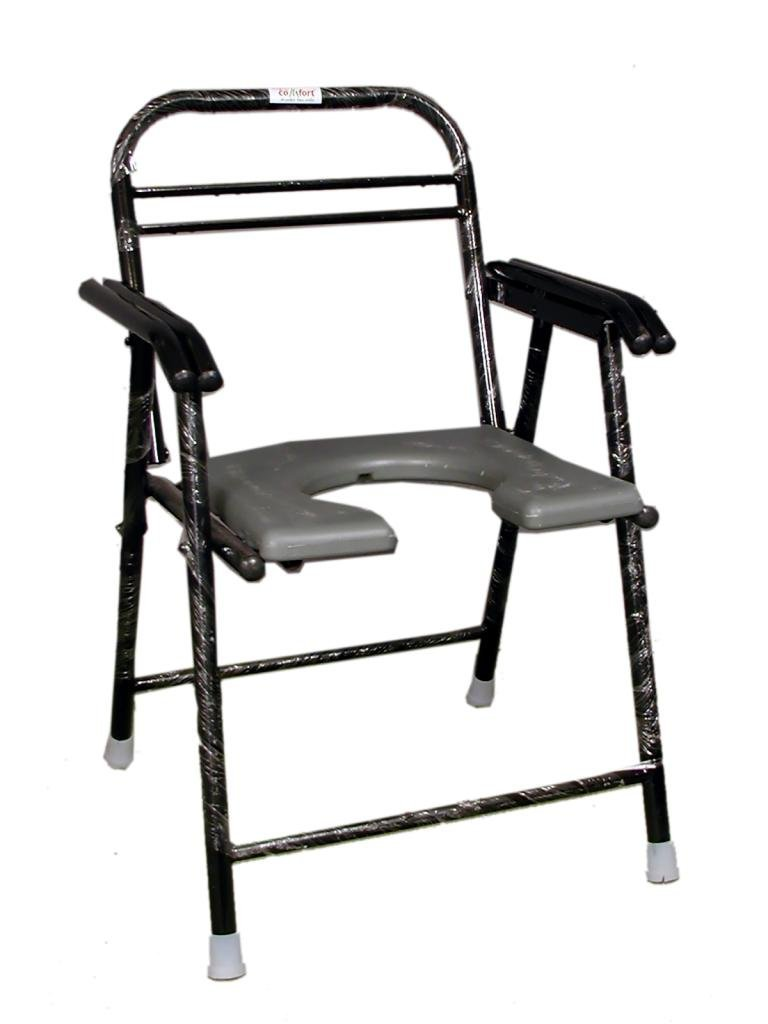 commode chair with pot folding