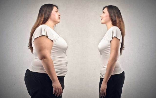 Obese vs thin woman