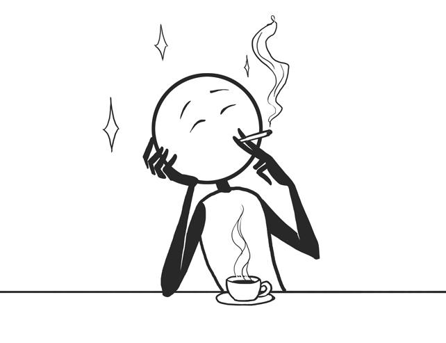 cigarette and coffee