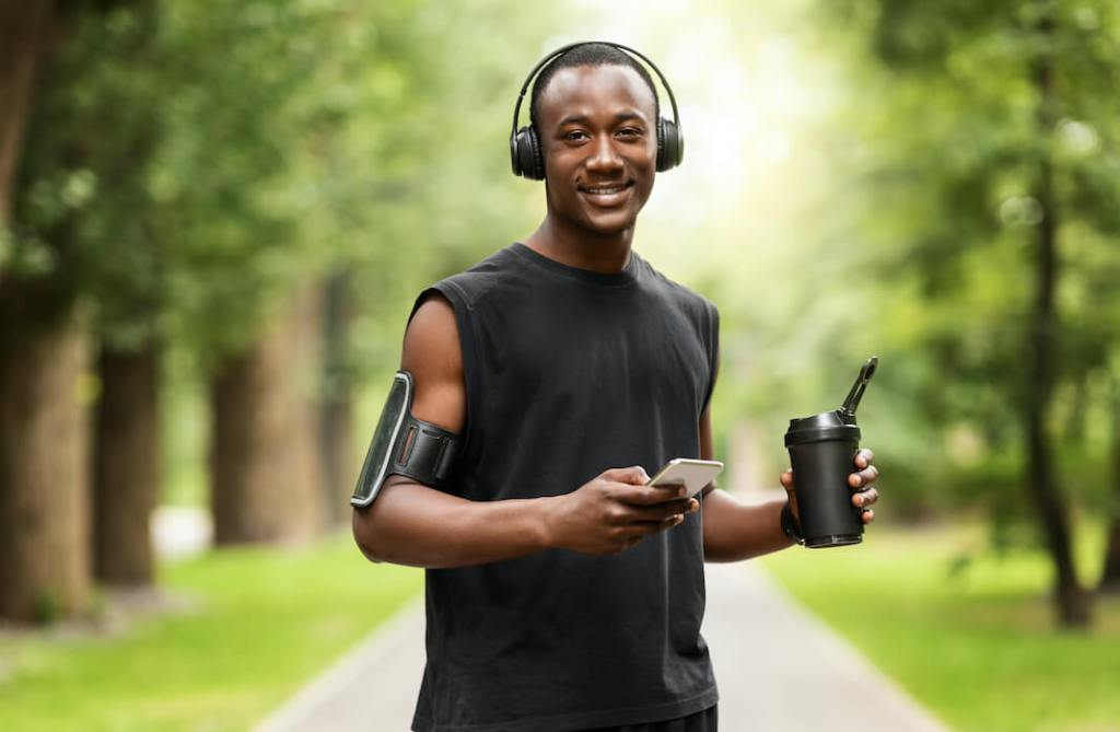 Exercise Reduces Stress and Anxiety - African Man Walking