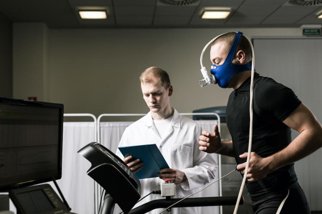 health screening doctor stress test - sports athlete