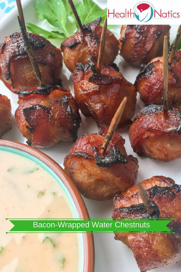 Bacon-Wrapped Water Chestnuts Recipe with Spicy Mustard Dip