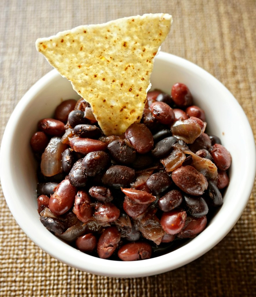 Yummy Spiced Red and Black Beans