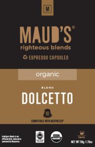 Organic Dolcetto Espresso Capsules, 20ct.-160ct.