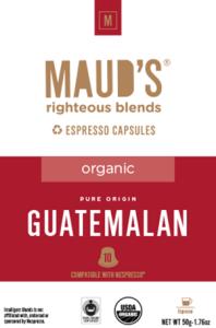 Organic Guatemalan Espresso capsules, 20ct.-160ct.