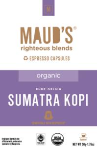 Organic Sumatra Espresso Capsules, 20ct.-160ct.