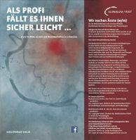 """BIG CAMPAIGN: """"Als Profi fällt es Ihnen sicher leicht ..."""", von Klinikum Vest GmbH/Westpress Agentur für Personalmarketing"""