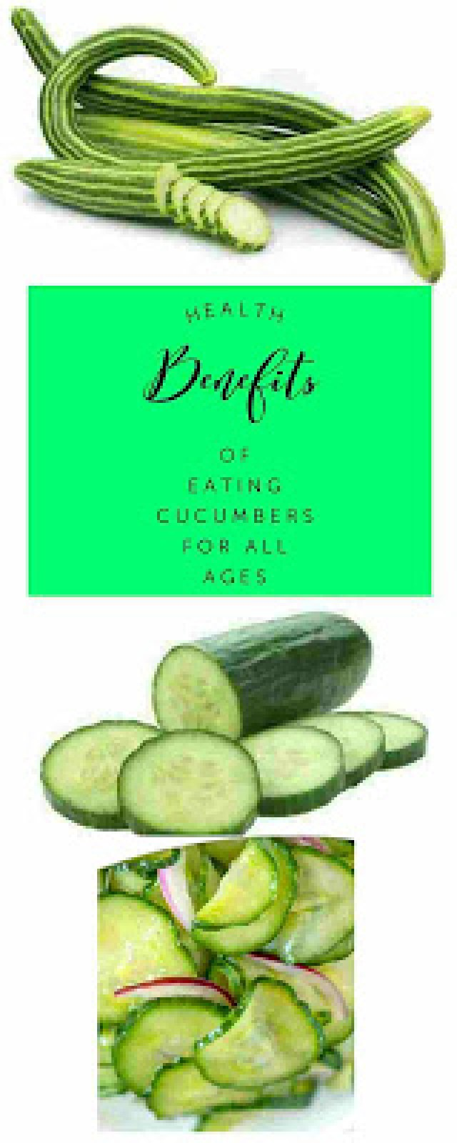 Health Benefits of Eating Cucumbers For All Ages