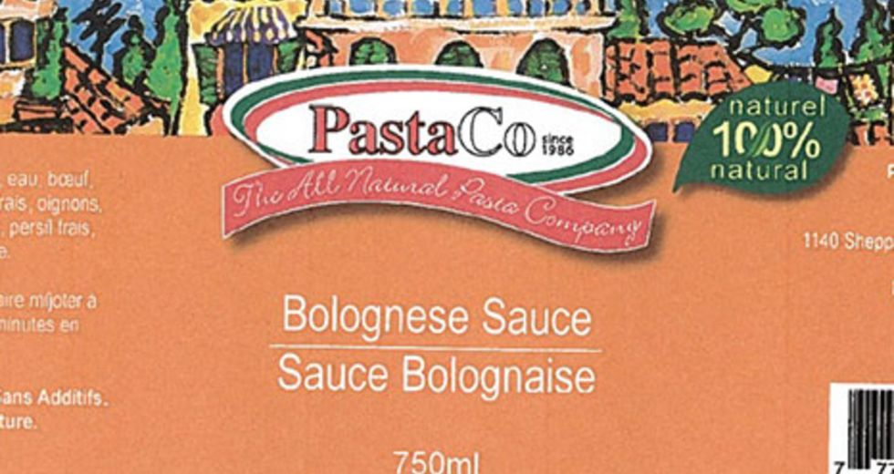 Recall of Bolognese sauce due to dangerous bacteria