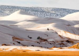 Sahara Desert Abnormal Weather – Covered in 15-inches of Snow
