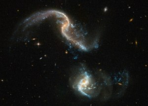 Hubble Has Captured A Stunning Pic Of Two Galaxies Merging